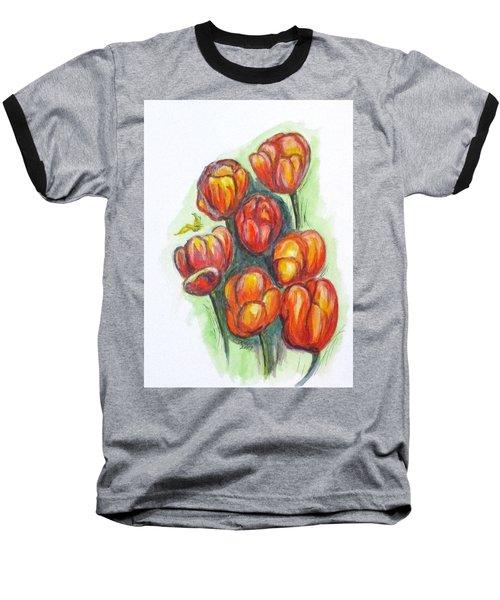 Spring Tulips Baseball T-Shirt