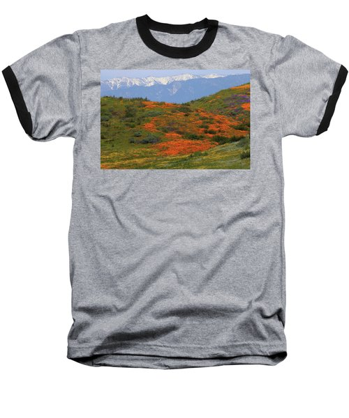 Spring Wildflower Display At Diamond Lake In California Baseball T-Shirt