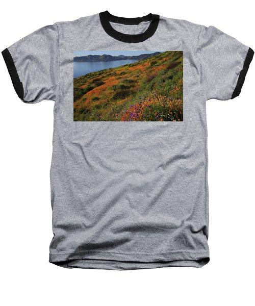 Spring Wildflower Season At Diamond Lake In California Baseball T-Shirt by Jetson Nguyen