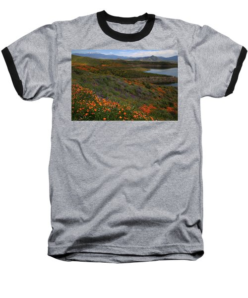 Baseball T-Shirt featuring the photograph Spring Wildflowers At Diamond Lake In California by Jetson Nguyen