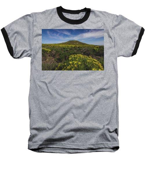 Spring Wildflowers Blooming In Malibu Baseball T-Shirt