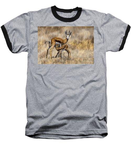 Springbok Mom And Calf Baseball T-Shirt