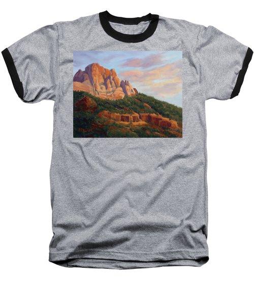 Springdale Sunset On Johnson Mountain Baseball T-Shirt