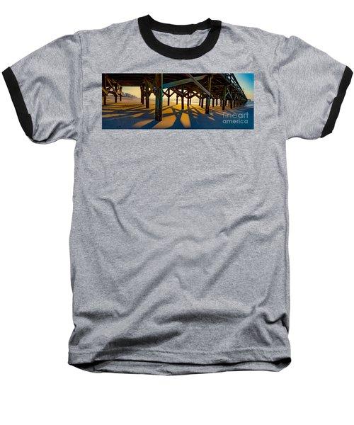 Springmaid Pier At Sunrise Baseball T-Shirt