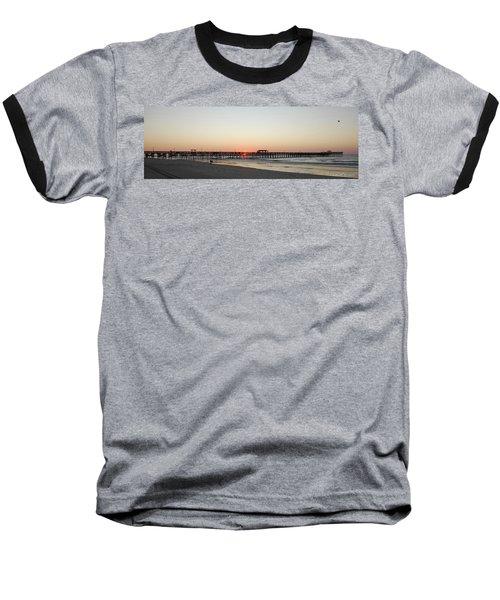 Springmaid Pier Sunrise Baseball T-Shirt