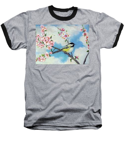 Baseball T-Shirt featuring the painting Spring's Promise by Donna Tucker