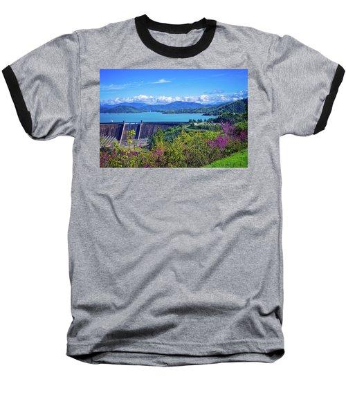 Springtime At Shasta Lake Dam Baseball T-Shirt