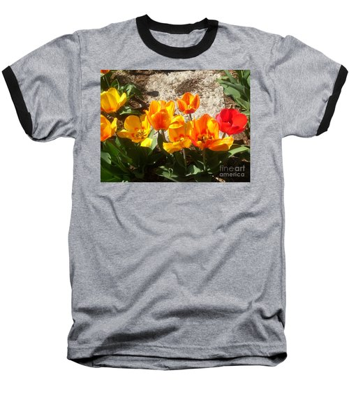 Springtime Flowers Baseball T-Shirt