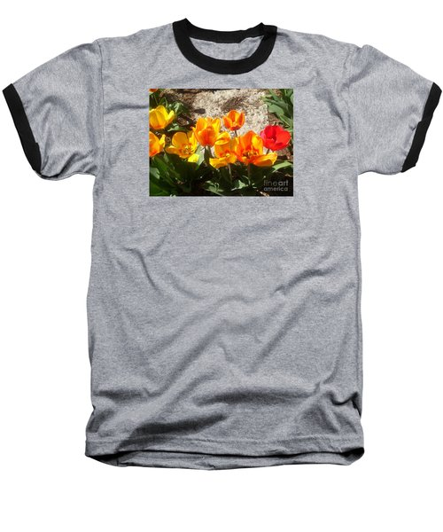 Springtime Flowers Baseball T-Shirt