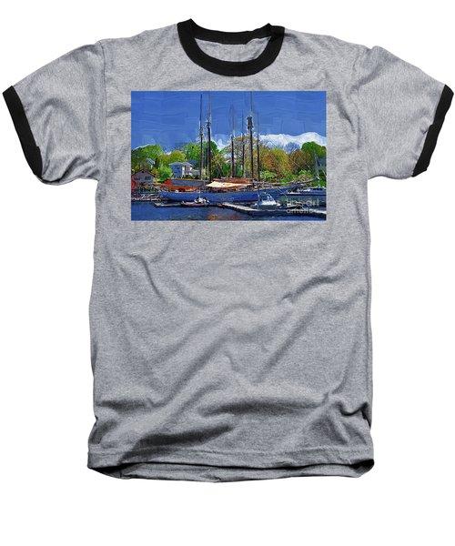 Springtime In The Harbor Baseball T-Shirt by Kirt Tisdale