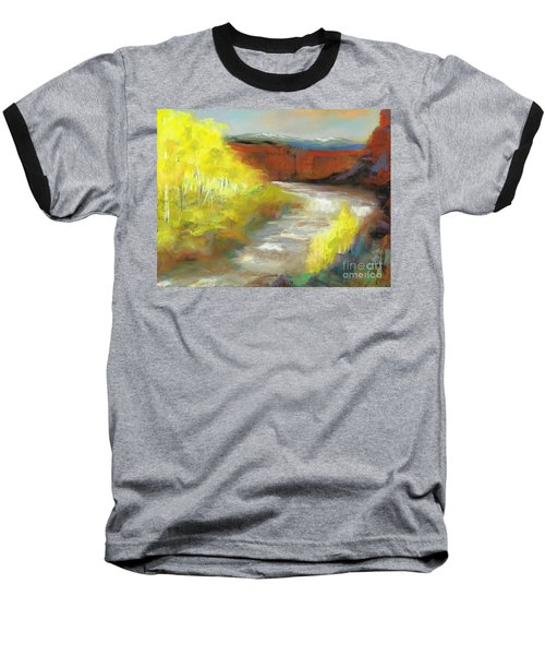 Springtime In The Rockies Baseball T-Shirt by Frances Marino