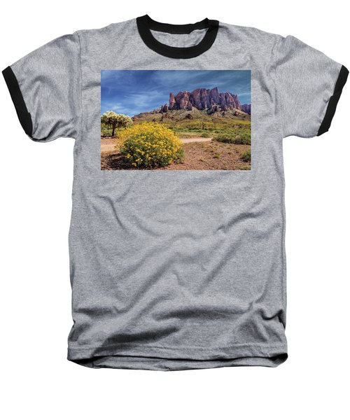 Springtime In The Superstition Mountains Baseball T-Shirt by James Eddy