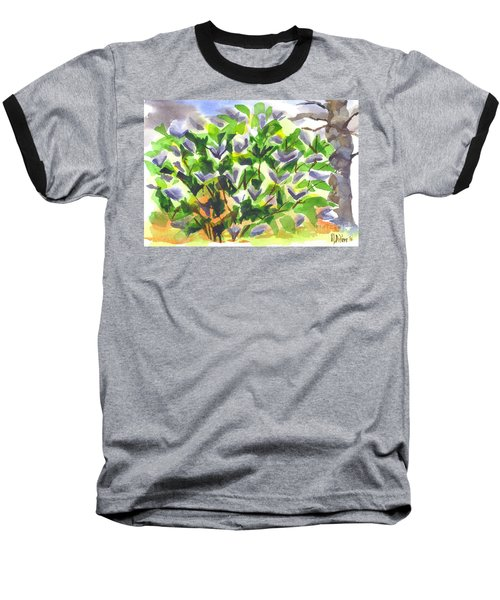 Baseball T-Shirt featuring the painting Springtime Lilac Abstraction by Kip DeVore