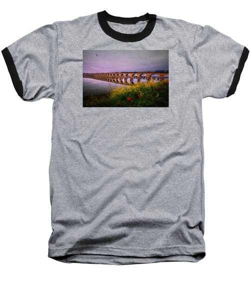 Springtime Reflections From Shipoke Baseball T-Shirt by Shelley Neff