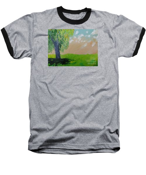 Springtime Willow Baseball T-Shirt