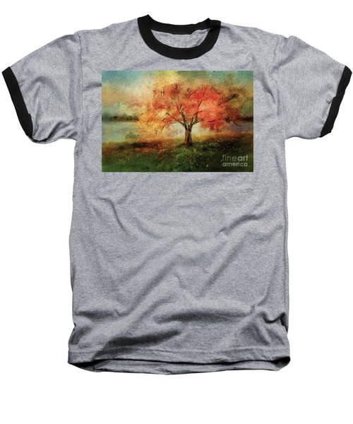 Baseball T-Shirt featuring the digital art Sprinkled With Spring by Lois Bryan