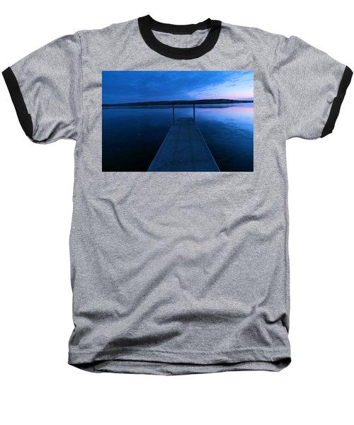 Springbrook Lake At Dawn Baseball T-Shirt by Jeff Swan