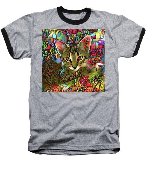 Sprocket The Tabby Kitten Baseball T-Shirt
