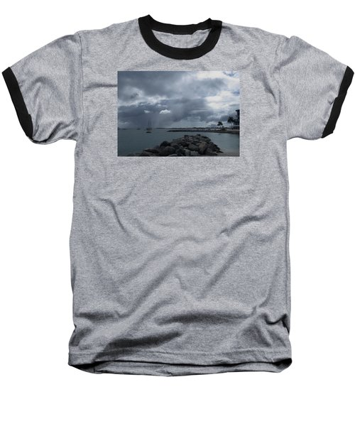 Squall In Simpson Bay St Maarten Baseball T-Shirt by Christopher Kirby