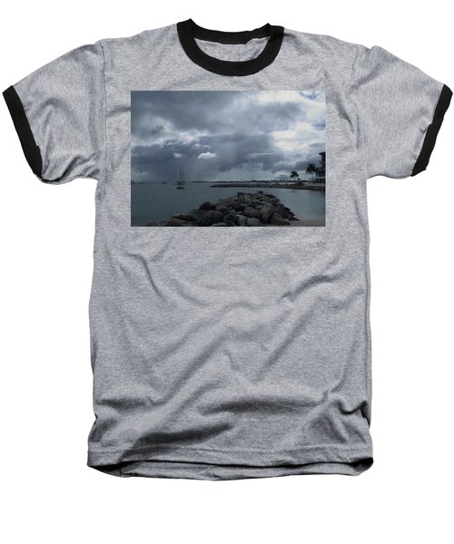 Squall In Simpson Bay St Maarten Baseball T-Shirt