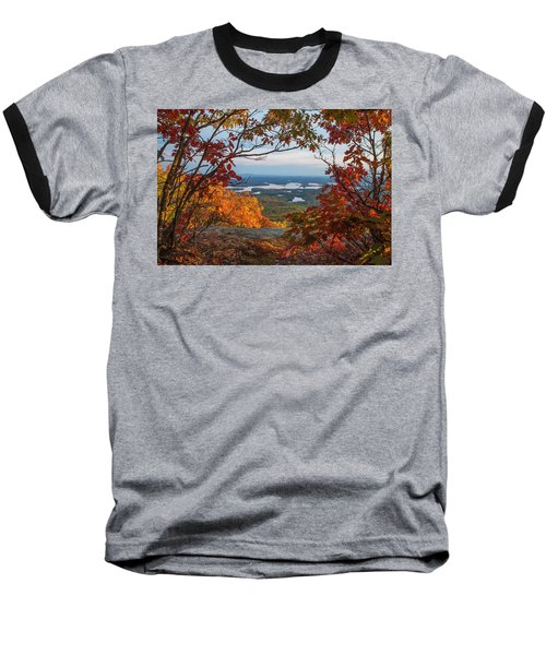 Squam Lake Autumn Views Baseball T-Shirt