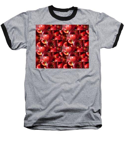 Square Apples Baseball T-Shirt by Tina M Wenger