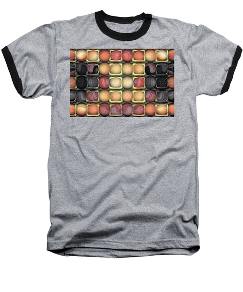 Square Holes Round Pegs Baseball T-Shirt by Wendy J St Christopher