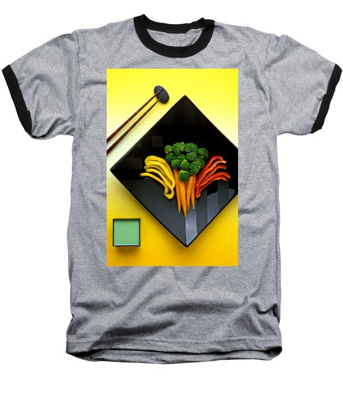 Square Plate Baseball T-Shirt by Garry Gay