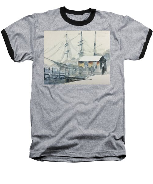 Baseball T-Shirt featuring the painting Square Rigger by Stan Tenney