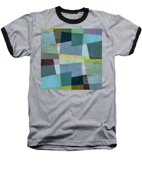 Baseball T-Shirt featuring the digital art Squares And Shims by Michelle Calkins