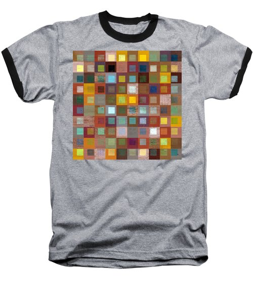 Squares In Squares Four Baseball T-Shirt by Michelle Calkins
