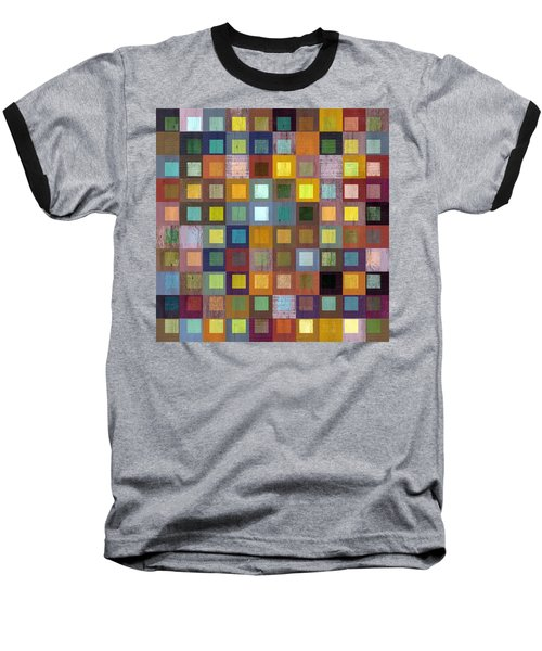 Squares In Squares One Baseball T-Shirt by Michelle Calkins