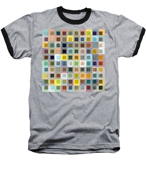 Squares In Squares Three Baseball T-Shirt by Michelle Calkins