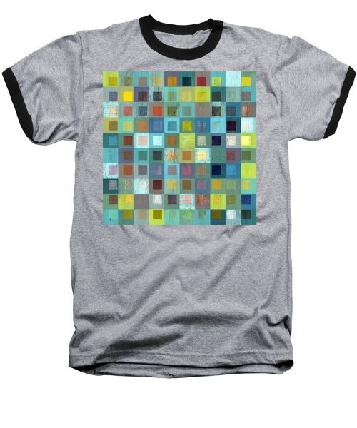 Squares In Squares Two Baseball T-Shirt by Michelle Calkins