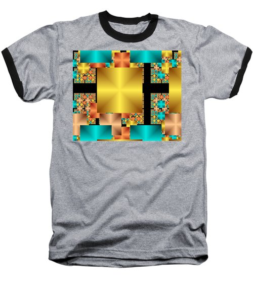 Squares Baseball T-Shirt