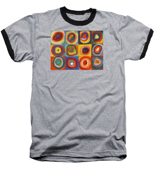 Squares With Concentric Circles Baseball T-Shirt