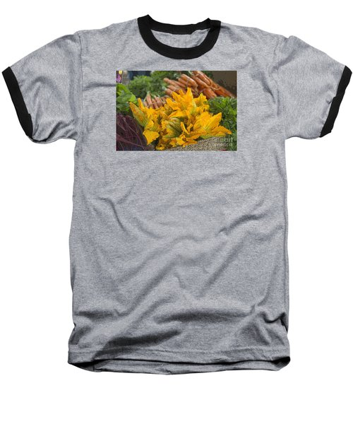 Baseball T-Shirt featuring the photograph Squash Blossoms by Jeanette French