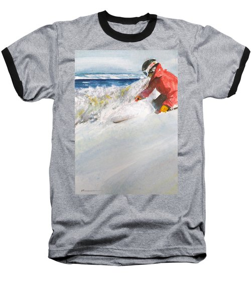 Baseball T-Shirt featuring the painting Beaver Creak by Ed Heaton
