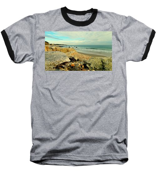 Squibby Cliffs And Mackerel Sky Baseball T-Shirt