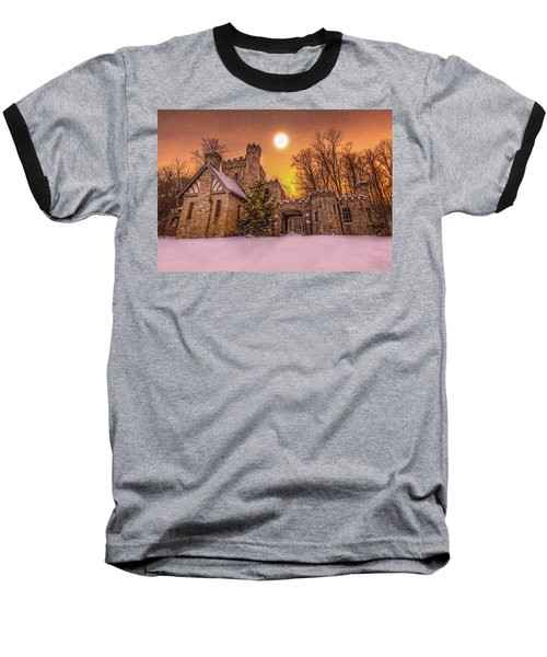Squires Castle In The Winter Baseball T-Shirt