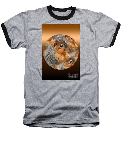 Squirrel In A Ball No.3 Baseball T-Shirt