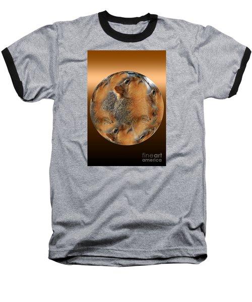 Squirrel In A Ball Baseball T-Shirt
