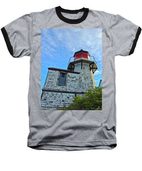 Squirrel Point Lighthouse Baseball T-Shirt