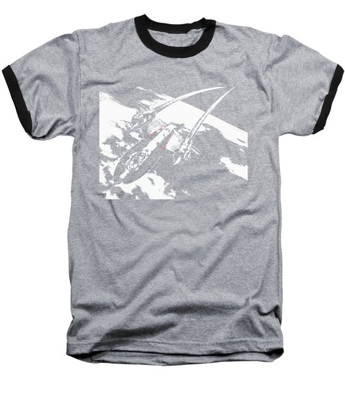 Sr-71 Flying High Baseball T-Shirt
