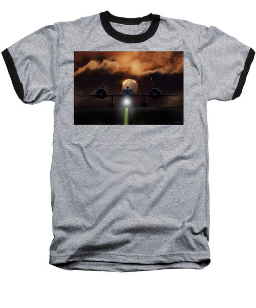 Baseball T-Shirt featuring the digital art Sr-71 Supermoon by Peter Chilelli