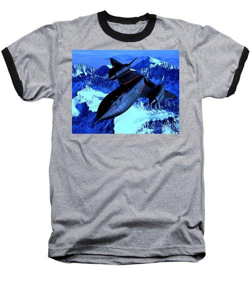 Sr71 Mountain Climber Baseball T-Shirt