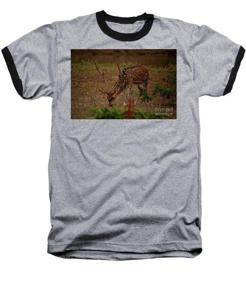 Sri Lankan Axis Deer Baseball T-Shirt