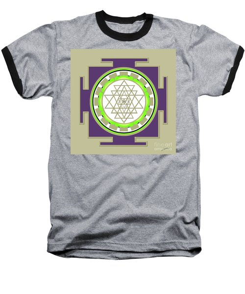 Sri Yantra Of Prosperity Baseball T-Shirt