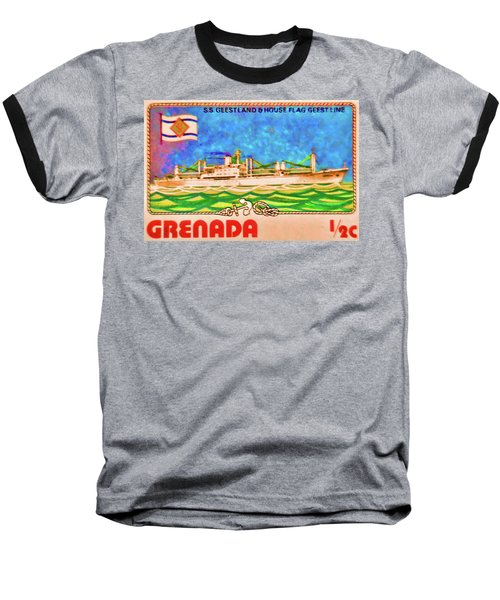 S.s Geestland And House Flag Geest Line Baseball T-Shirt by Lanjee Chee