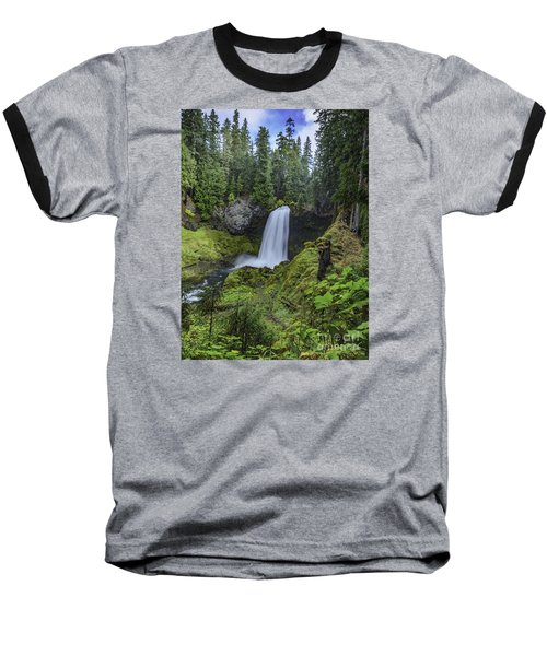 Baseball T-Shirt featuring the photograph Sahalie Falls,oregon by Nancy Marie Ricketts